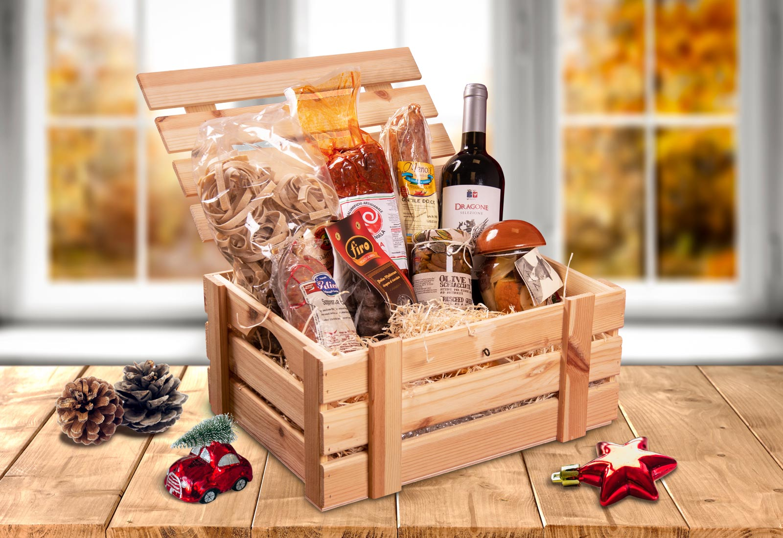 Baskets and gift packs for Christmas