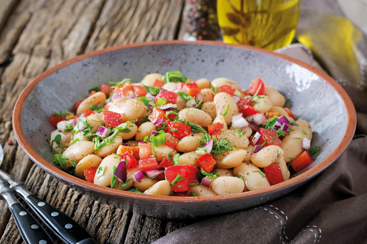 Beans salad: the Calabrian recipe