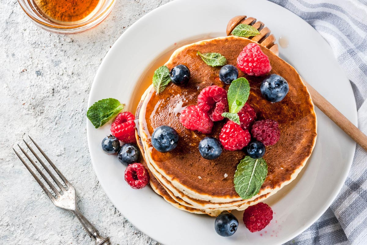 Gluten free recipe: pancakes with chestnut flour
