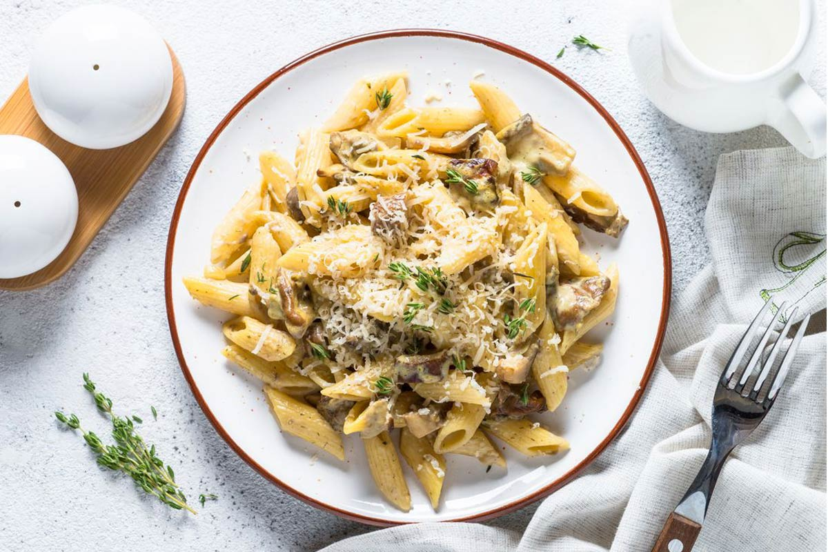 Gluten free recipe: pasta with porcini mushrooms