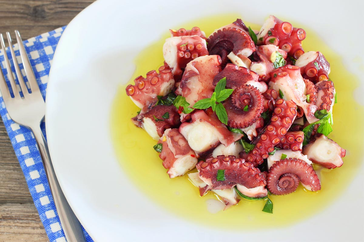 Octopus salad: the Calabrian recipe