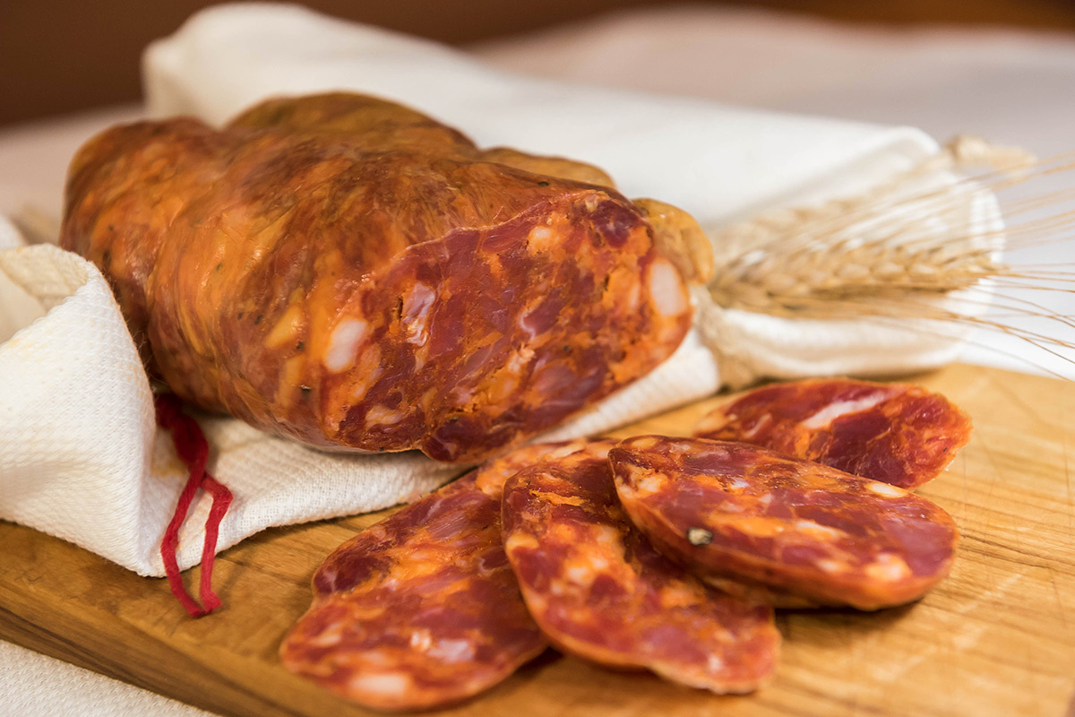 Home-made Calabrian soppressata