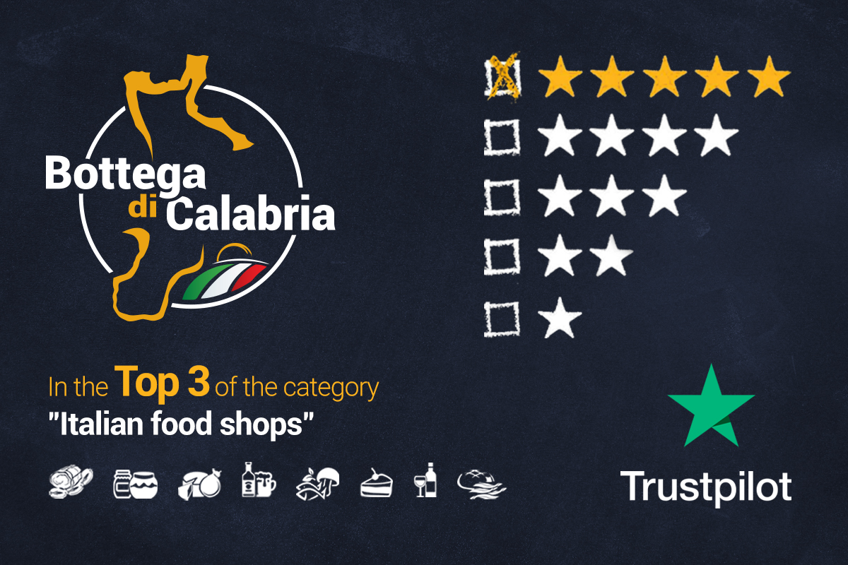 Bottega di Calabria in the TOP 3 of Italian food shops