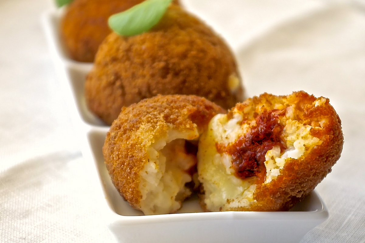 How to make Arancini filled with 'Nduja